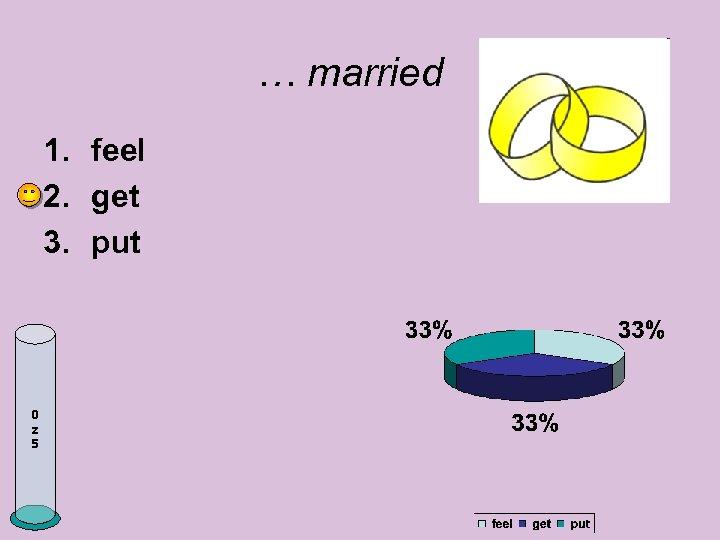 … married 1. feel 2. get 3. put 0 z 5