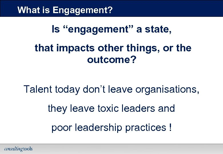 "What is Engagement? Is ""engagement"" a state, that impacts other things, or the outcome?"