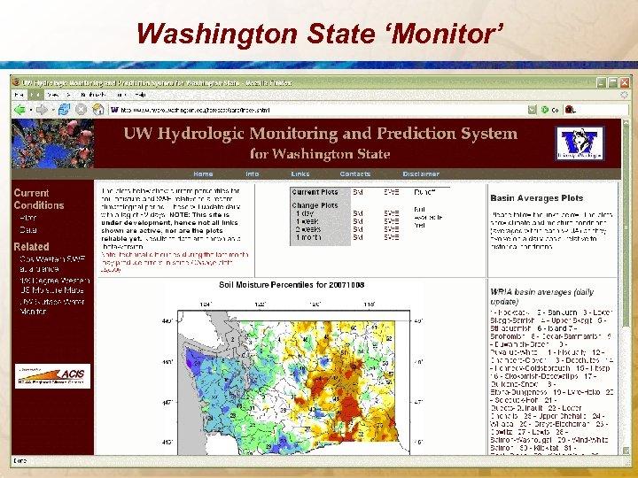 Washington State 'Monitor'
