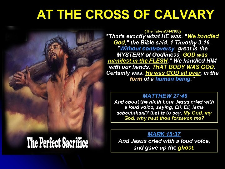 AT THE CROSS OF CALVARY (The Token/64 -0308)