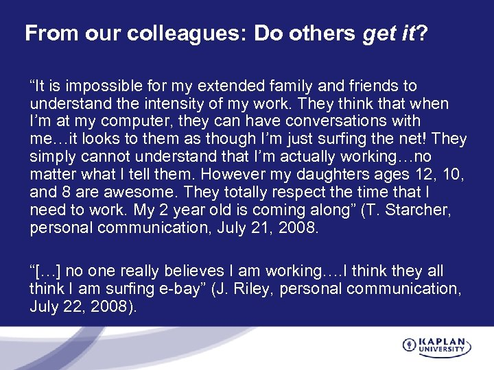 """From our colleagues: Do others get it? """"It is impossible for my extended family"""
