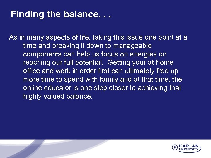 Finding the balance. . . As in many aspects of life, taking this issue