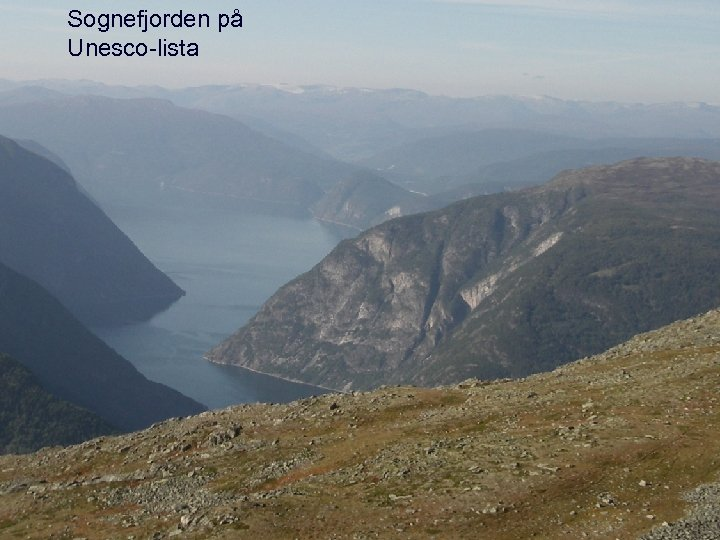 Sognefjorden på Unesco-lista