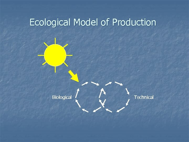 Ecological Model of Production Biological Technical