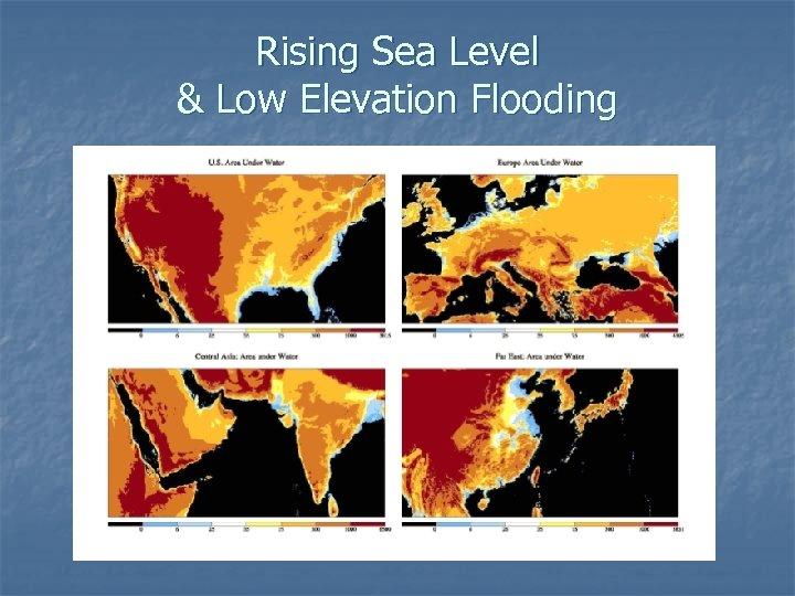 Rising Sea Level & Low Elevation Flooding