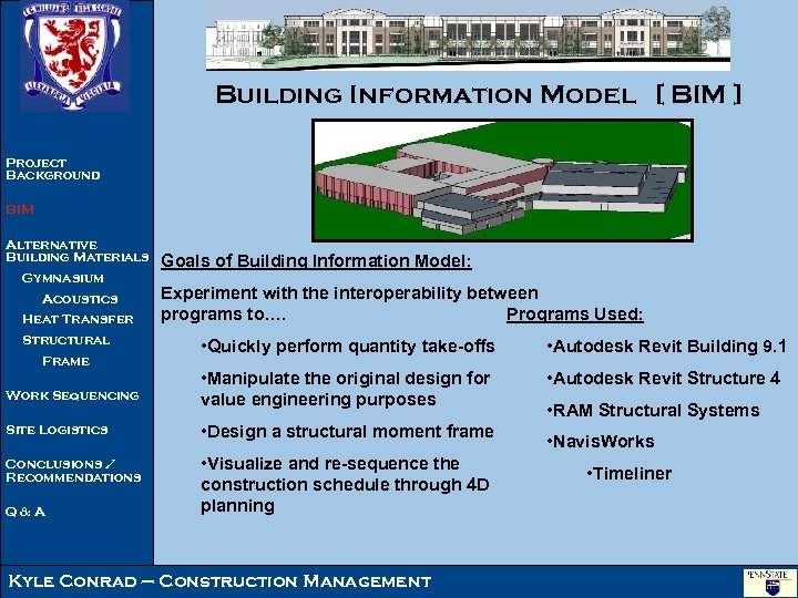 Building Information Model [ BIM ] Project Background BIM Alternative Building Materials Gymnasium Acoustics