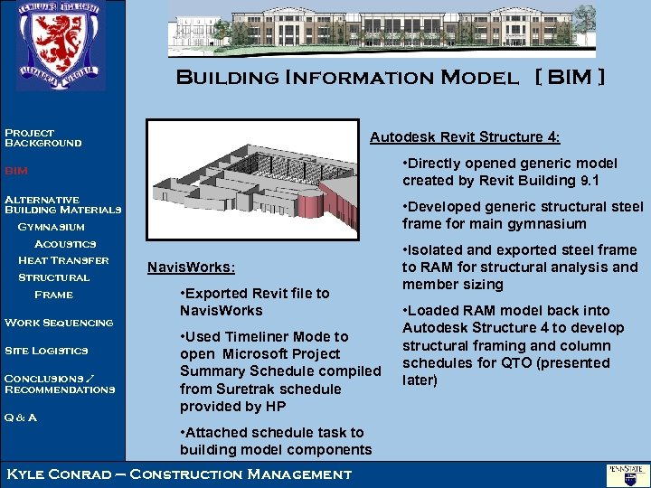Building Information Model [ BIM ] Project Background Autodesk Revit Structure 4: • Directly
