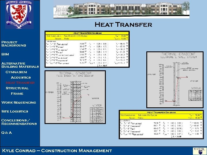 Heat Transfer Project Background BIM Alternative Building Materials Gymnasium Acoustics Heat Transfer Structural Frame