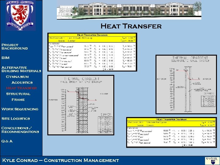 Heat Transfer Project Background BIM Alternative Building Materials Gymnasium Acoustics Heat Transfer Structural Frame
