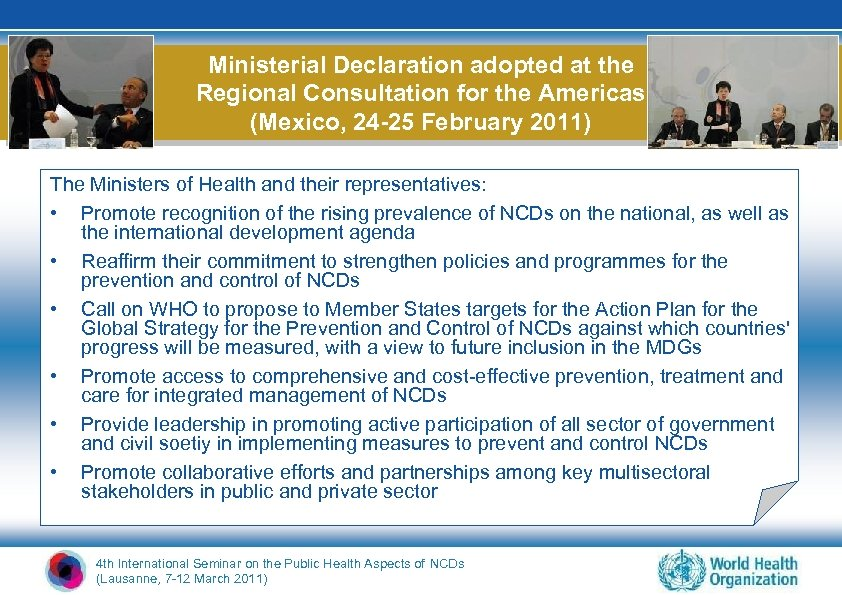 Ministerial Declaration adopted at the Regional Consultation for the Americas (Mexico, 24 -25 February