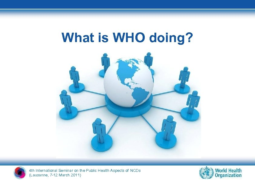What is WHO doing? 4 th International Seminar on the Public Health Aspects of
