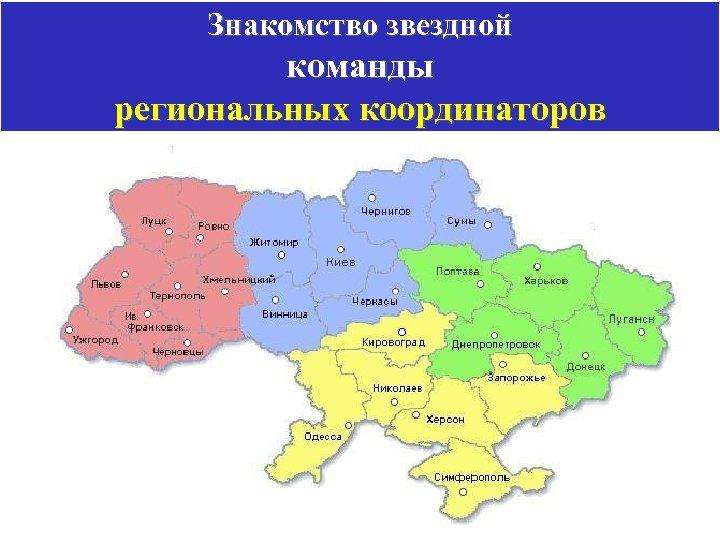 Знакомство звездной команды региональных координаторов