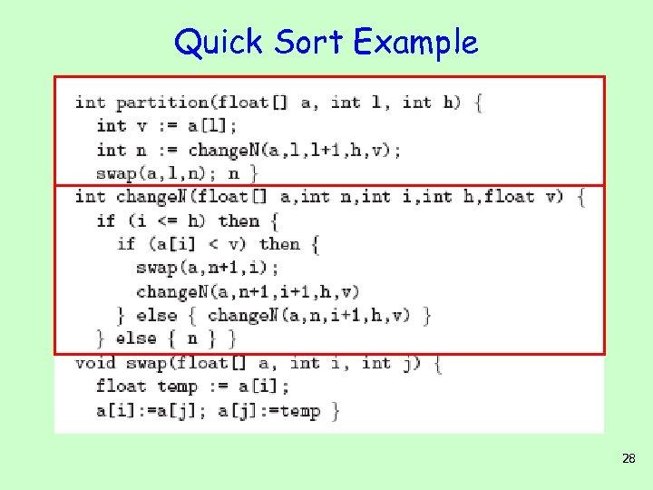 Quick Sort Example 28