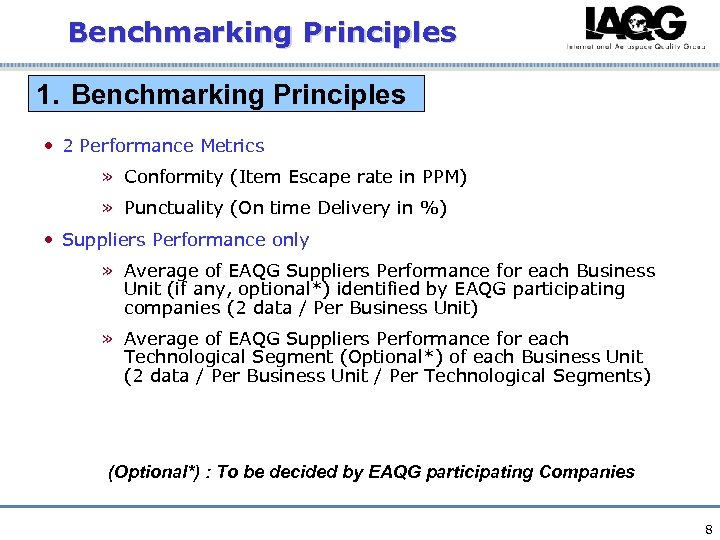 Benchmarking Principles 1. Benchmarking Principles • 2 Performance Metrics » Conformity (Item Escape rate