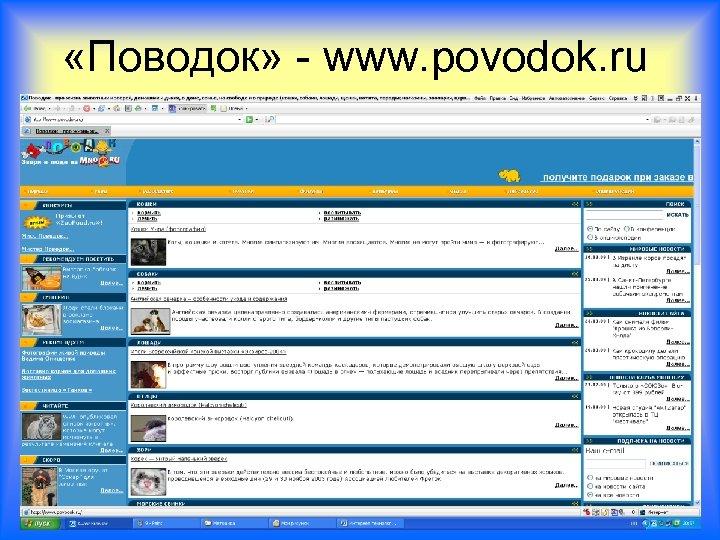 «Поводок» - www. povodok. ru