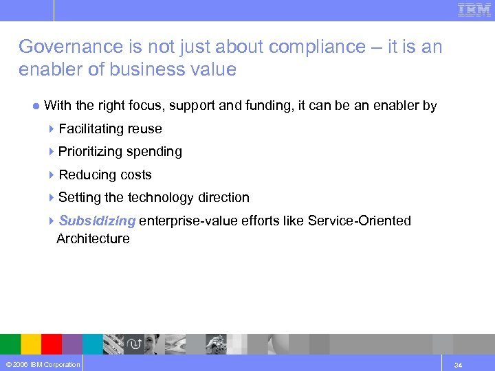 Governance is not just about compliance – it is an enabler of business value