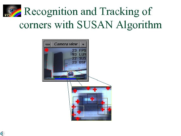 Recognition and Tracking of corners with SUSAN Algorithm