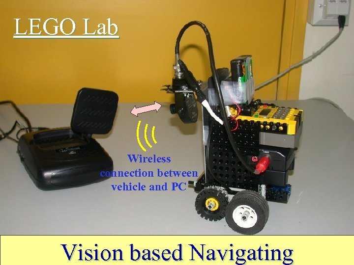 LEGO Lab Wireless connection between vehicle and PC Vision based Navigating