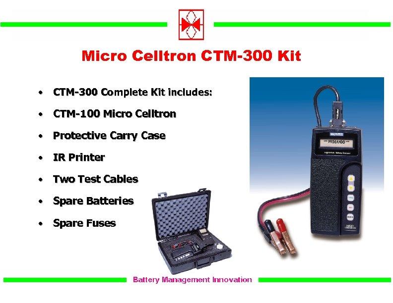 Micro Celltron CTM-300 Kit • CTM-300 Complete Kit includes: • CTM-100 Micro Celltron •