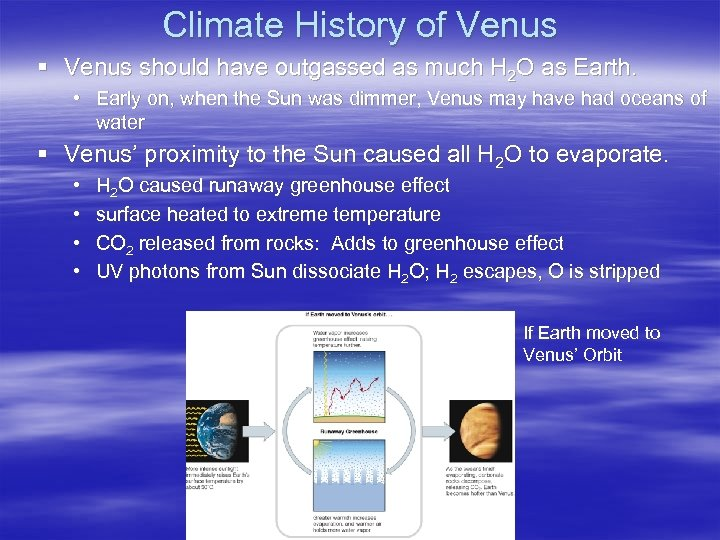 Climate History of Venus § Venus should have outgassed as much H 2 O
