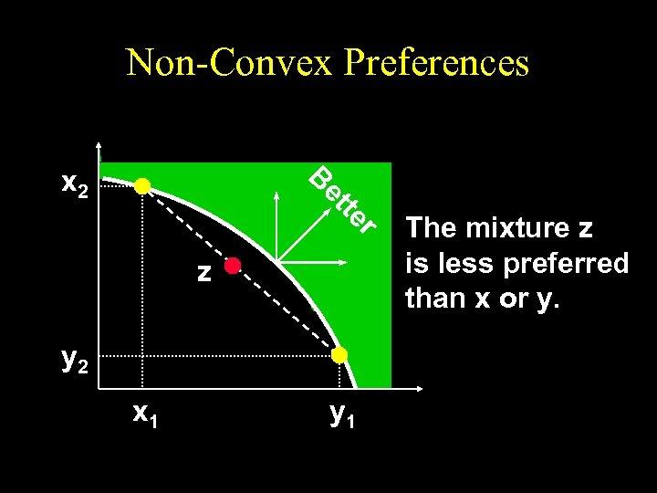Non-Convex Preferences B x 2 r te et z y 2 x 1 y