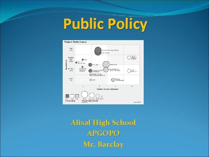Public Policy Alisal High School APGOPO Mr. Barclay
