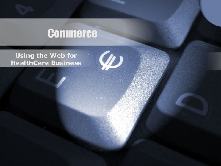 Commerce Using the Web for Health. Care Business