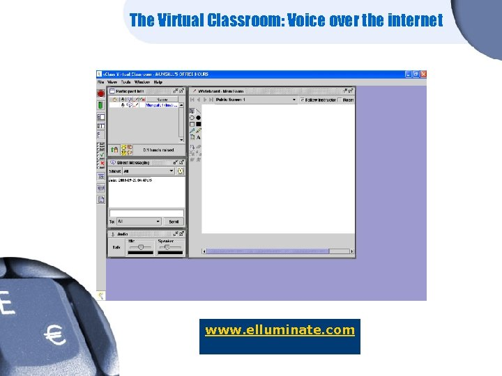 The Virtual Classroom: Voice over the internet www. elluminate. com