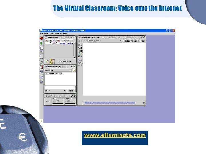 The Virtual Classroom: Voice over the internet www. elluminate. com