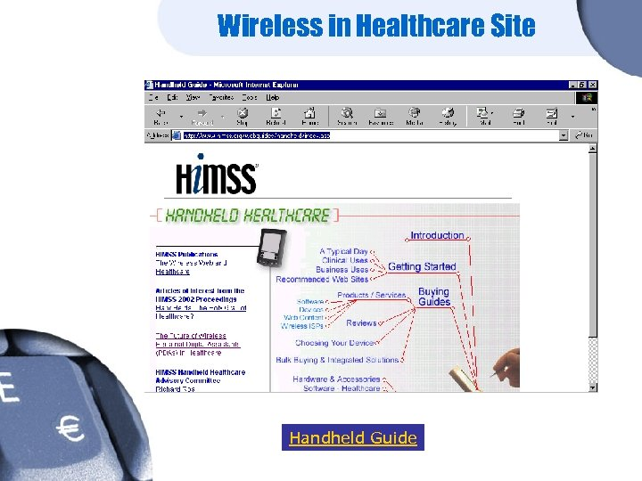Wireless in Healthcare Site Handheld Guide