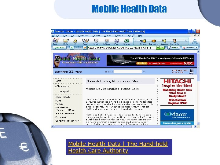 Mobile Health Data | The Hand-held Health Care Authority