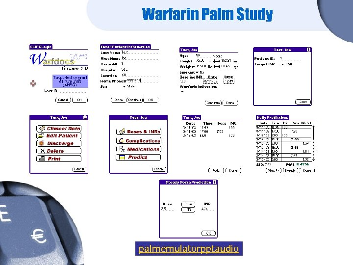 Warfarin Palm Study palmemulatorpptaudio