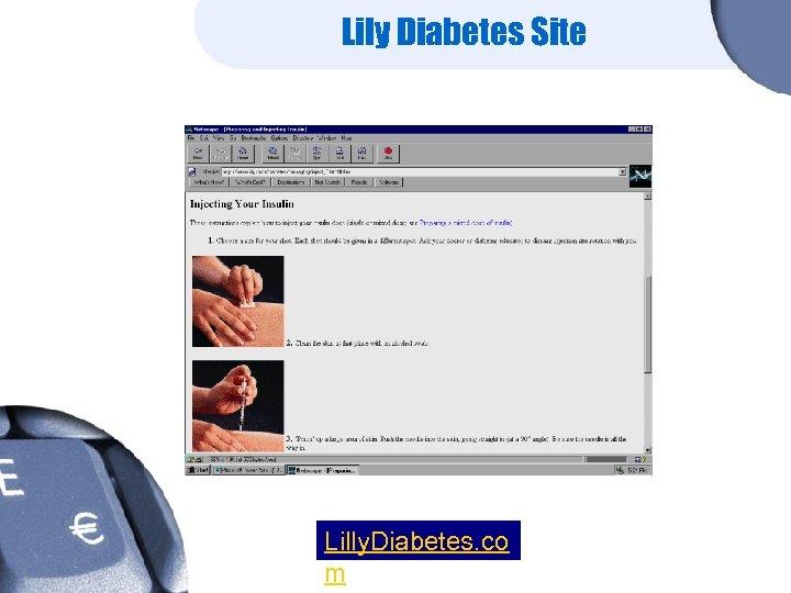 Lily Diabetes Site Lilly. Diabetes. co m