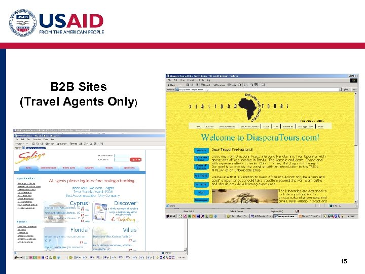 B 2 B Sites (Travel Agents Only) 15