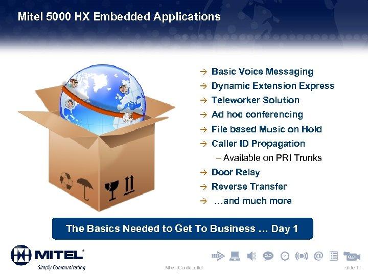 Mitel 5000 HX Embedded Applications à Basic Voice Messaging à Dynamic Extension Express à