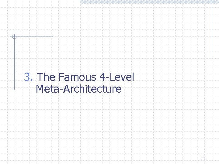 3. The Famous 4 -Level Meta-Architecture 35