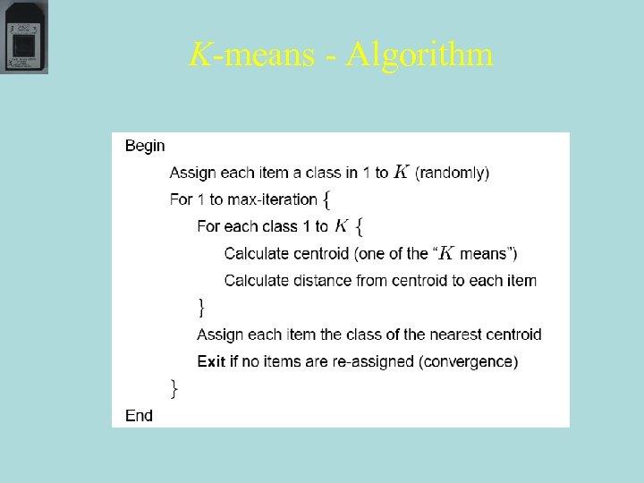 K-means - Algorithm