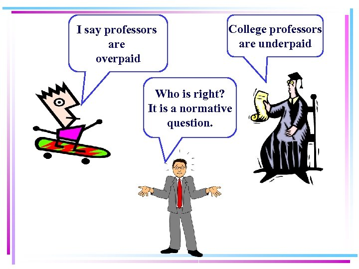 I say professors are overpaid College professors are underpaid Who is right? It is