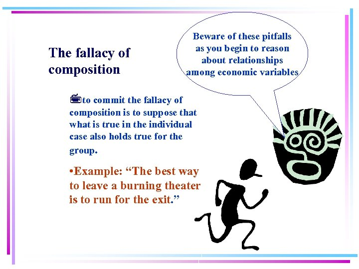 The fallacy of composition Beware of these pitfalls as you begin to reason about