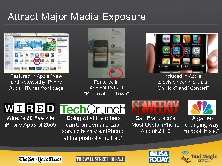 """Attract Major Media Exposure Featured in Apple """"New and Noteworthy i. Phone Apps"""", i."""