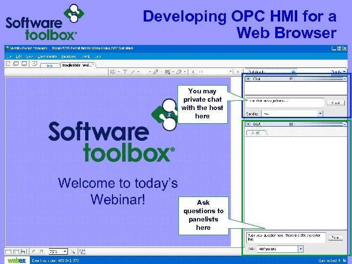 Developing OPC HMI for a Web Browser You may private chat with the host