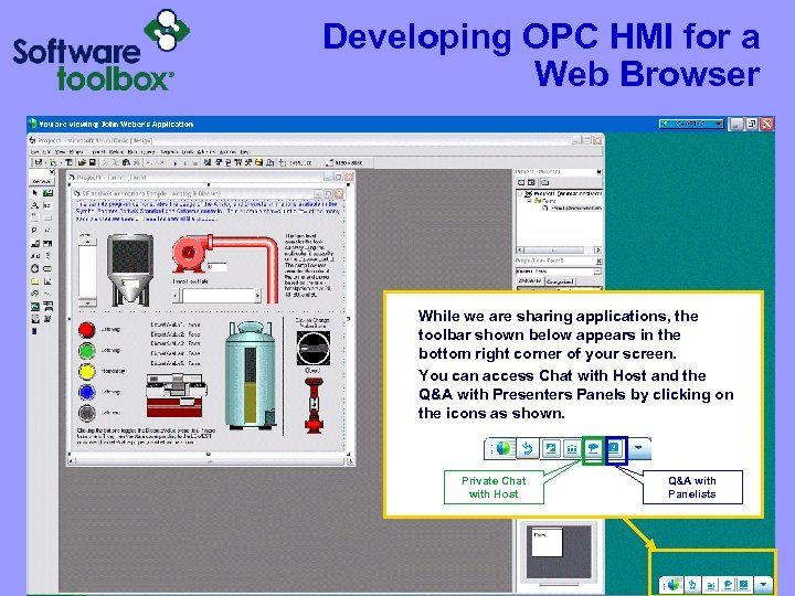 Developing OPC HMI for a Web Browser While we are sharing applications, the toolbar