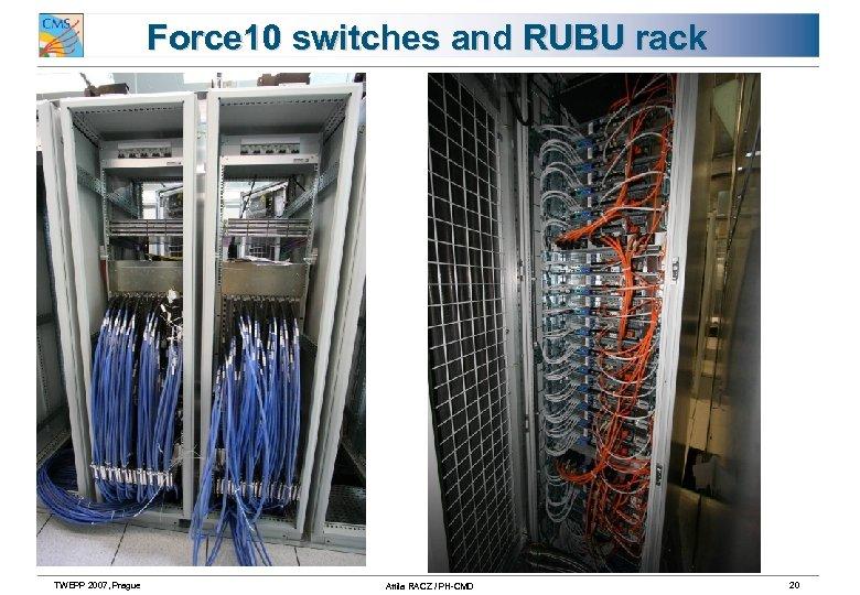Force 10 switches and RUBU rack TWEPP 2007, Prague Attila RACZ / PH-CMD 20