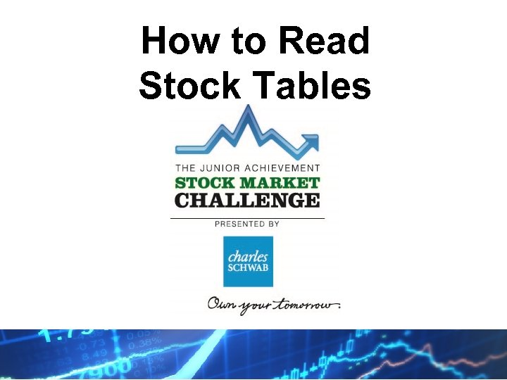 How to Read Stock Tables