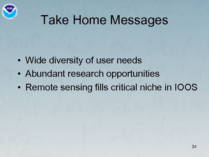 Take Home Messages • Wide diversity of user needs • Abundant research opportunities •
