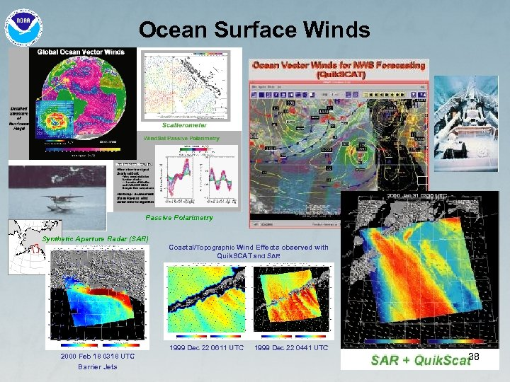Ocean Surface Winds Passive Polarimetry Synthetic Aperture Radar (SAR) Coastal/Topographic Wind Effects observed with