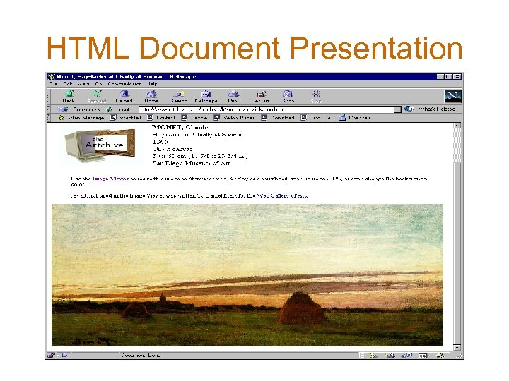 HTML Document Presentation