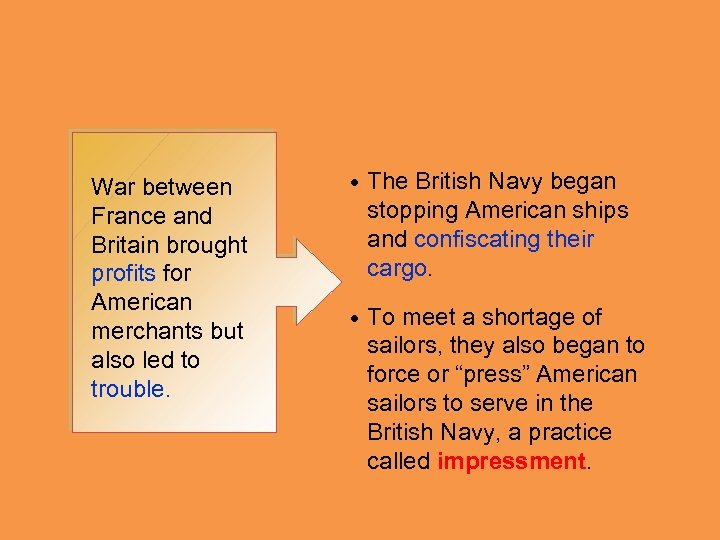War between France and Britain brought profits for American merchants but also led to