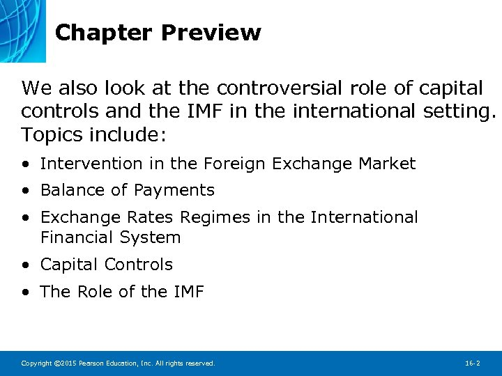 Chapter 16 The International Financial System Chapter