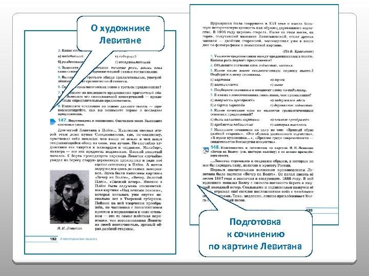 О художнике Левитане Подготовка к сочинению по картине Левитана
